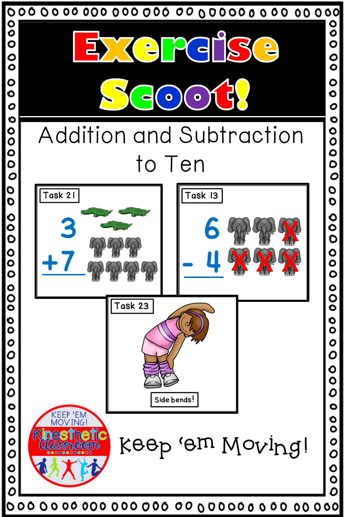 Addition And Subtraction To 10 Math Task Cards Exercise