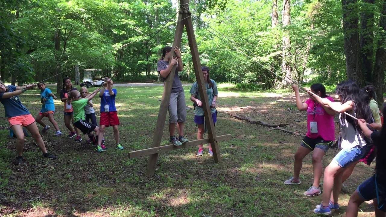 Large A Frame With Ropes Team Building Low Ropes Element