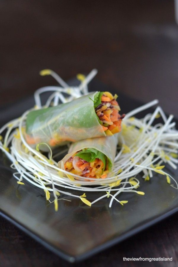 Spicy Asian Slaw Summer Rolls The View from Great Island