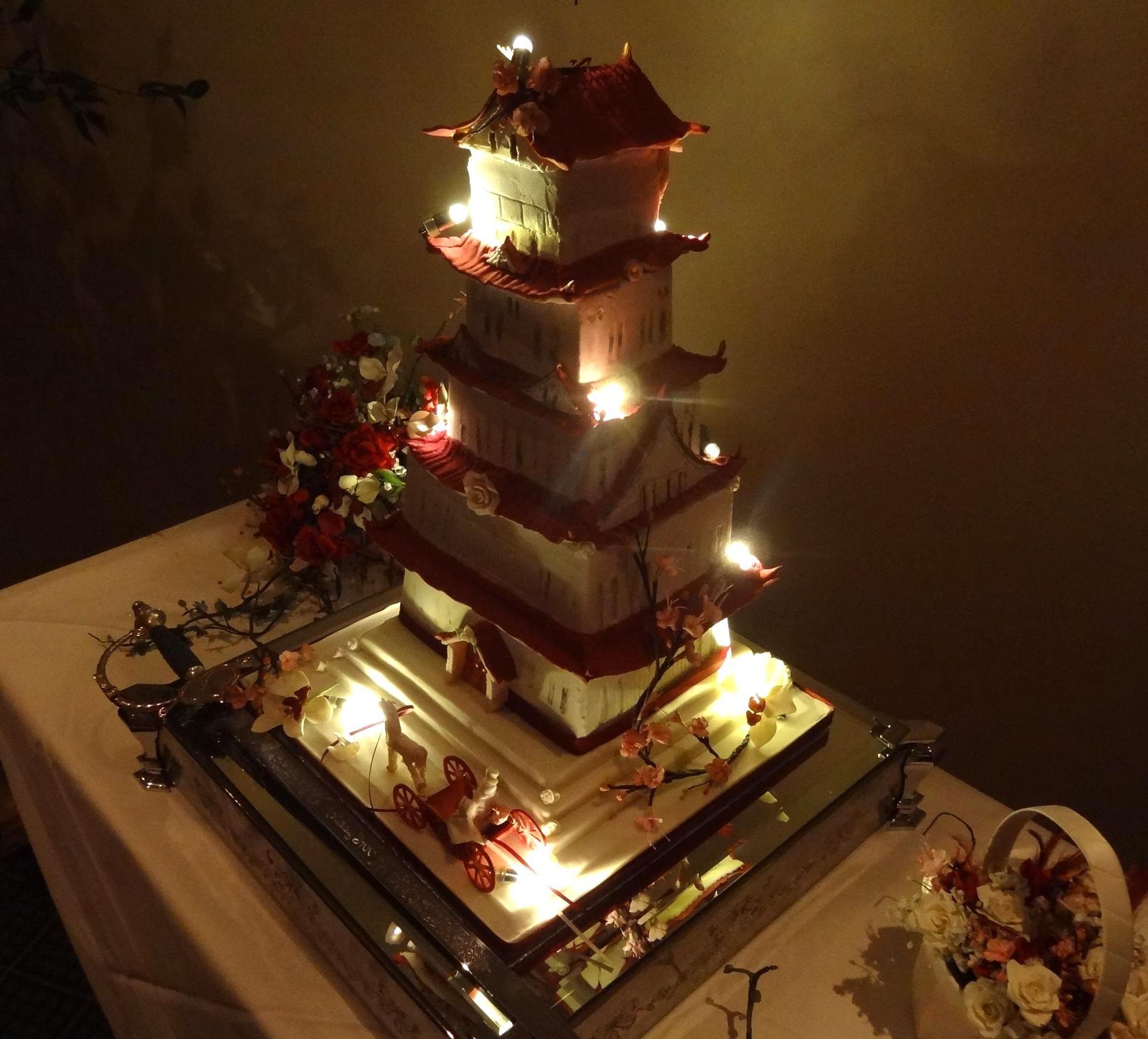 Himeji Castle Theme Wedding Cake