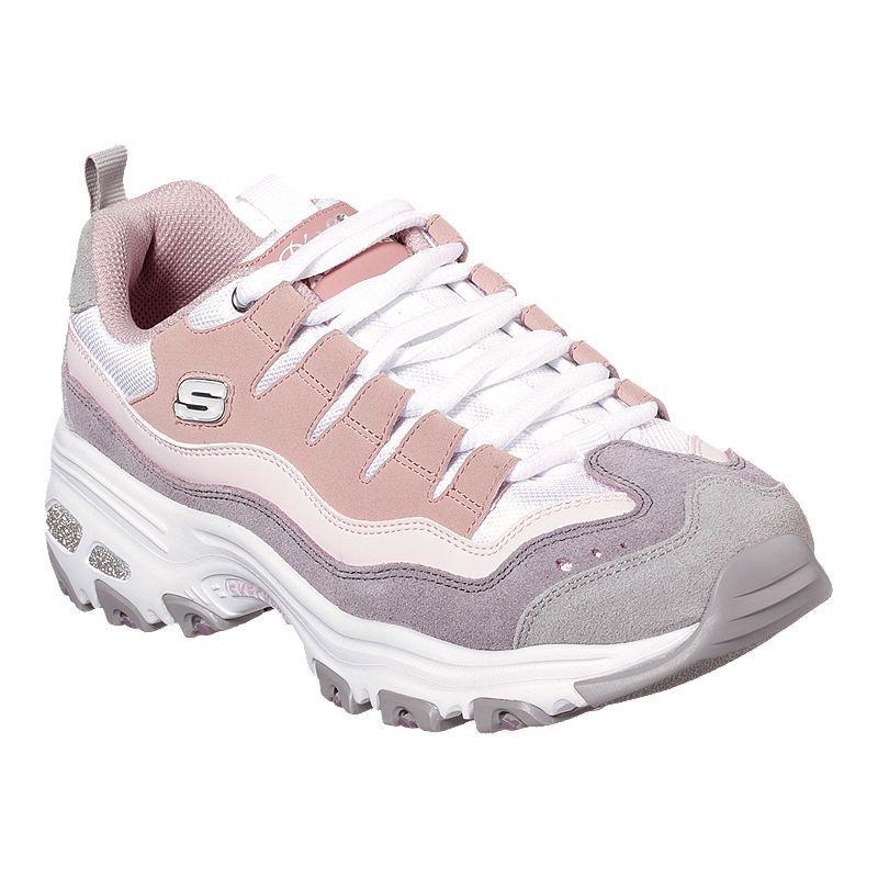 Skechers Women S D Lites Sure Thing Shoes Pink Purple Skechers