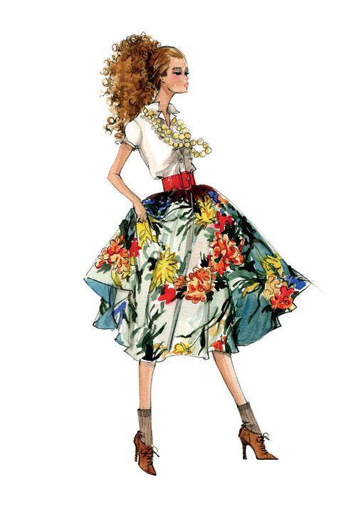 25 melhores ideias de barbie desenho no pinterest como desenhar a barbie desenhos da barbie - Pinturas de moda ...