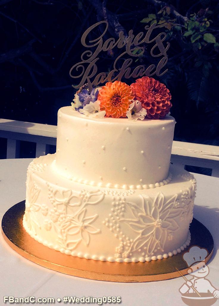 Design W 0585   Butter Cream Wedding Cake   12\