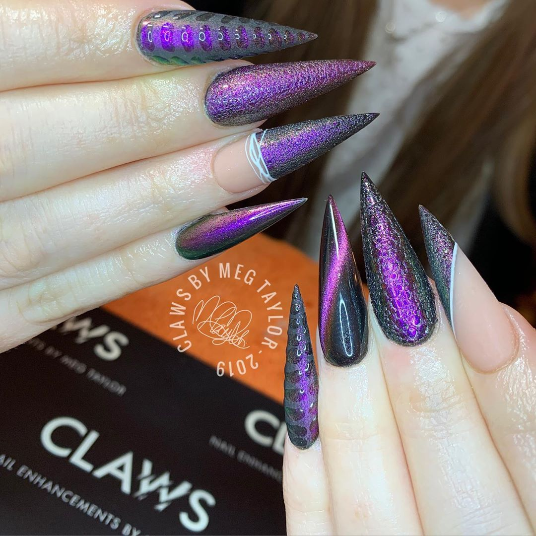 L I Z A R D Claws Is Based At Hiddenbeautysheffield Only Sheffieldsalons Clawsbymeg Sheffield Qualitynai Stilletto Nails Uk Nails Fun Nails