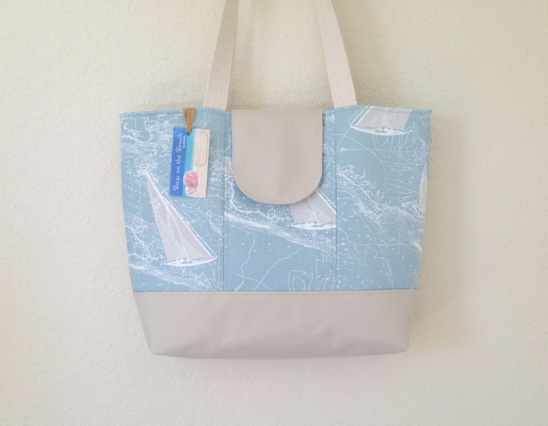 Beach Bag Zippered Tote Waterproof Bottom