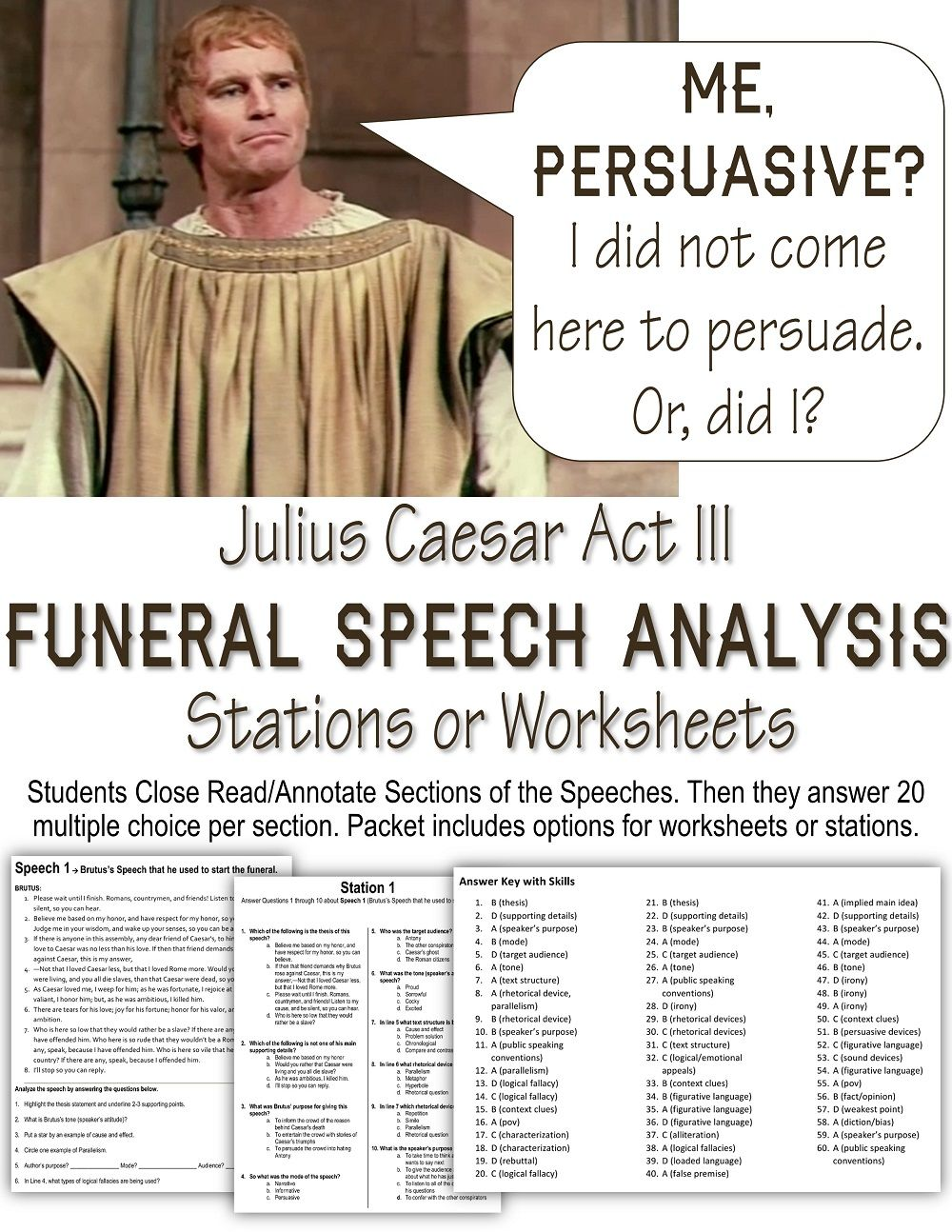 julius caesar funeral speeches close analyze answer analyze julius caesar funeral speeches annotation instructions followed by 60 skills based questions skills