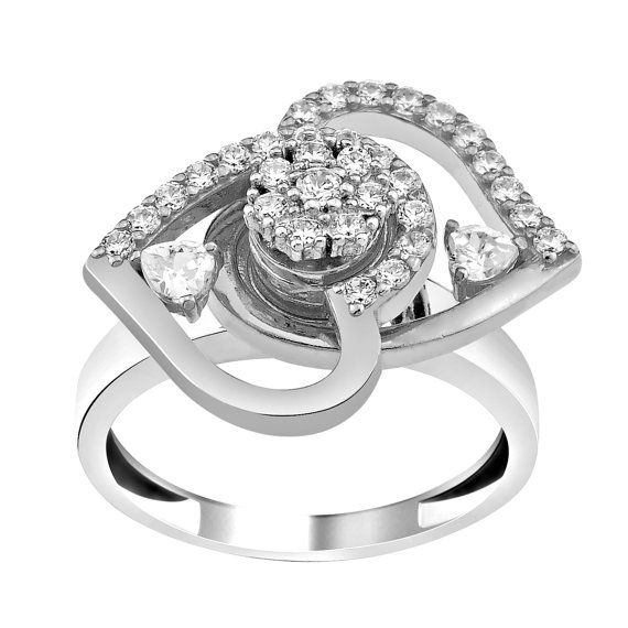 Spinning solid silver ring motion ring from Etsy $69.90