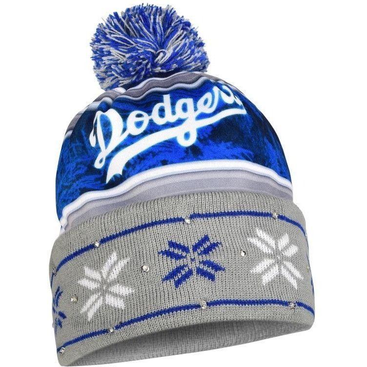 Los Angeles Dodgers MLB Wordmark Light Up Printed Beanie  7a1df3ffb1db