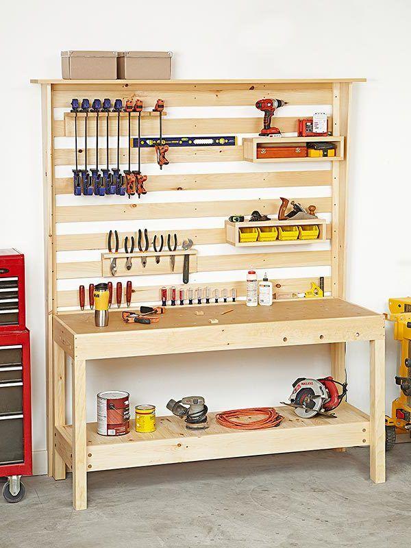 2 bauanleitungen f r heimwerker werktisch und werkbank selber bauen shop organization. Black Bedroom Furniture Sets. Home Design Ideas