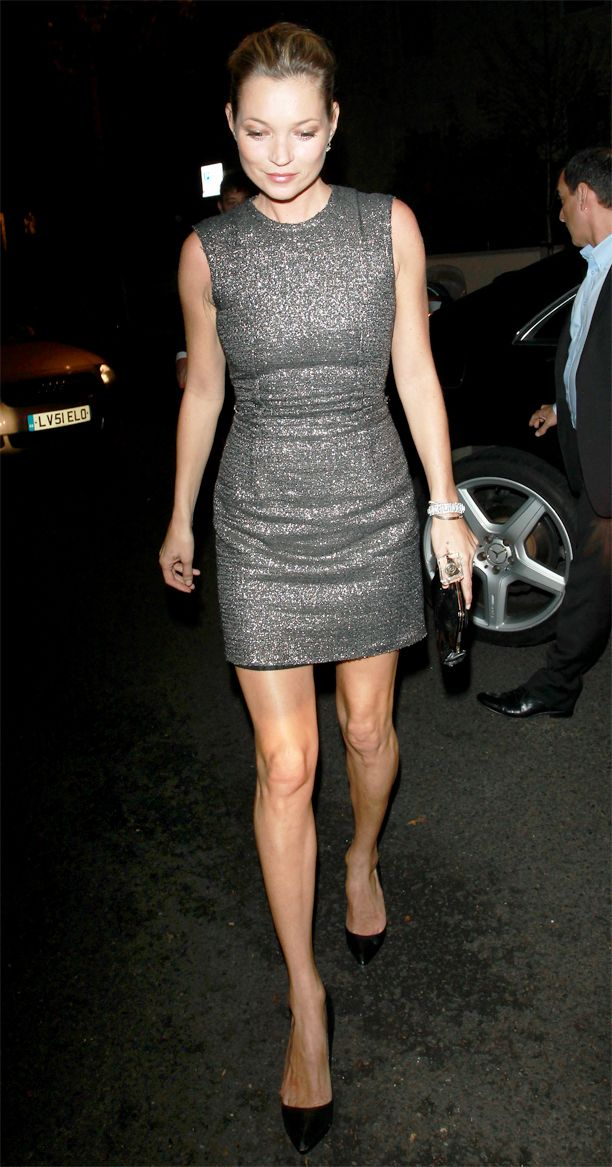 Kate Moss attends Paul McCartney and Nancy Shevell's wedding reception in  London, England.