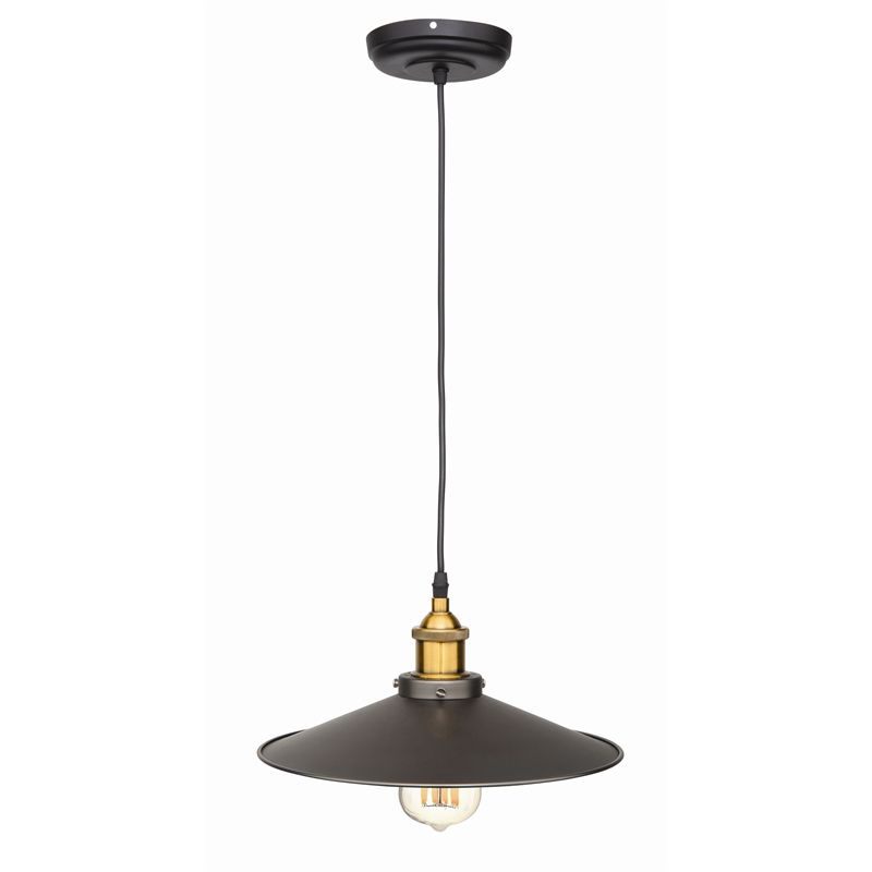Brilliant 31cm Light Pendant Shade Campbell Steel
