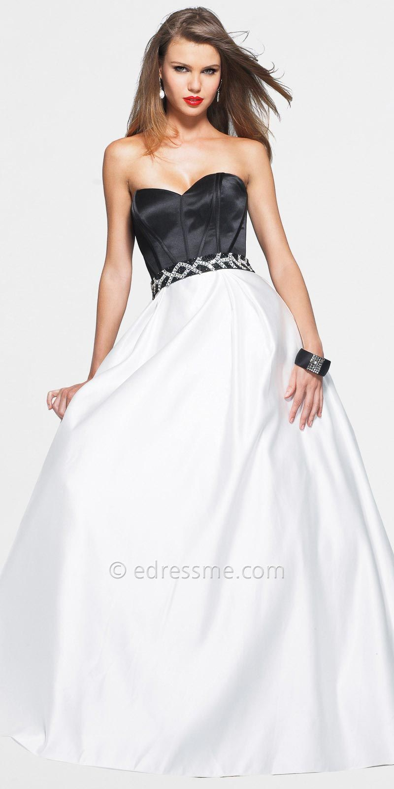 Black and White Ball Gown by Faviana | Dresses | Pinterest | Ball ...