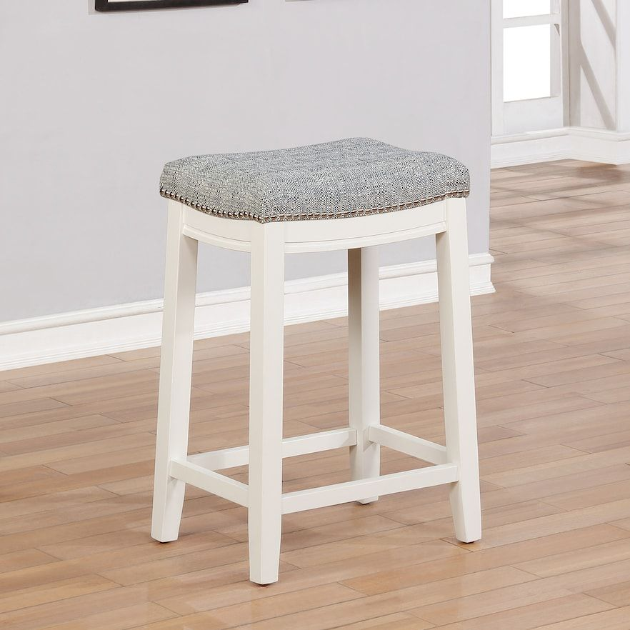 Cool New Linon Allure Stain Resistant Nailhead Counter Stool Cjindustries Chair Design For Home Cjindustriesco