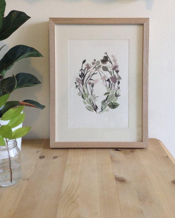 • Wild Flower art print by CloverRobin on Etsy