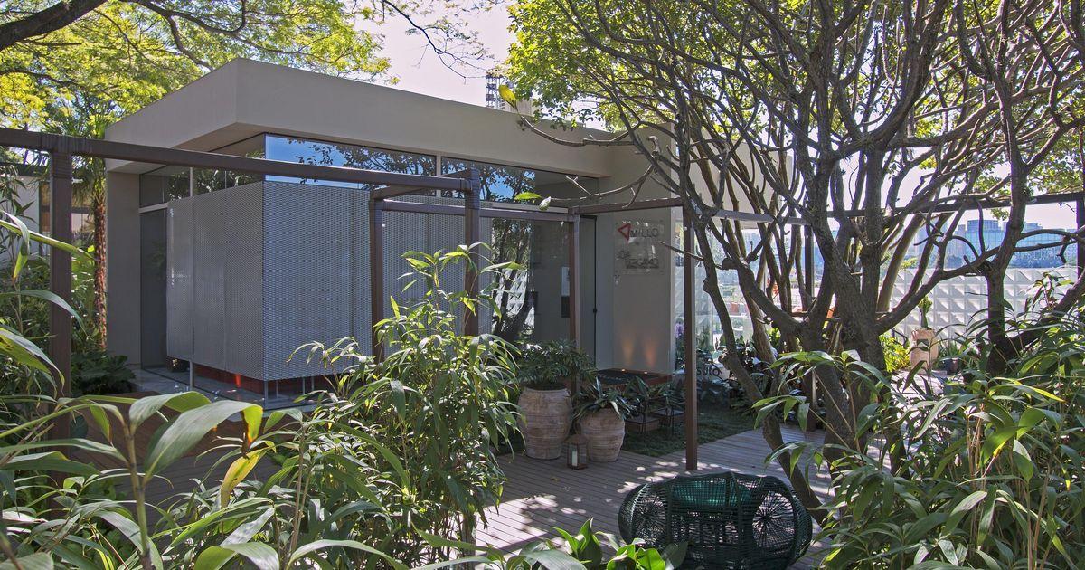Jardim com porta Vela