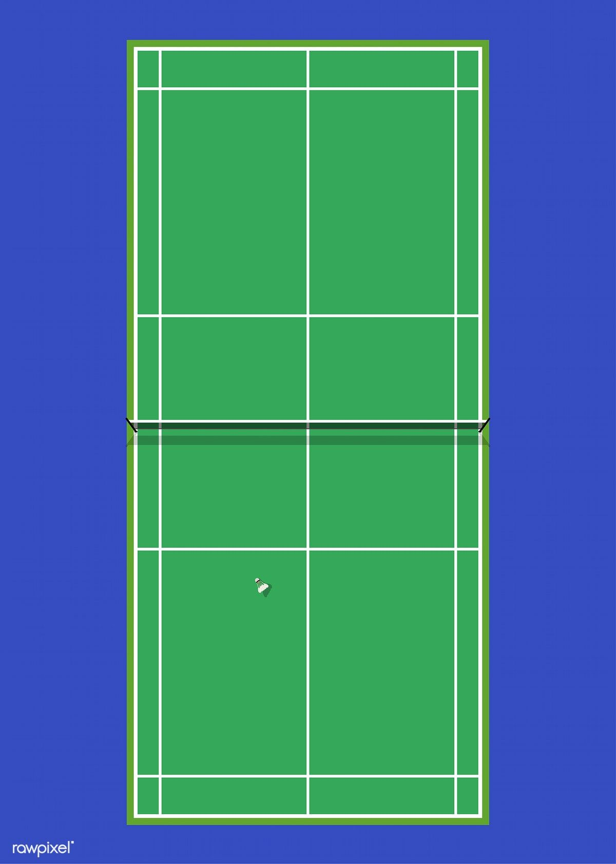 Aerial View Of A Badminton Court Free Image By Rawpixel Com Badminton Court Badminton Court Flooring