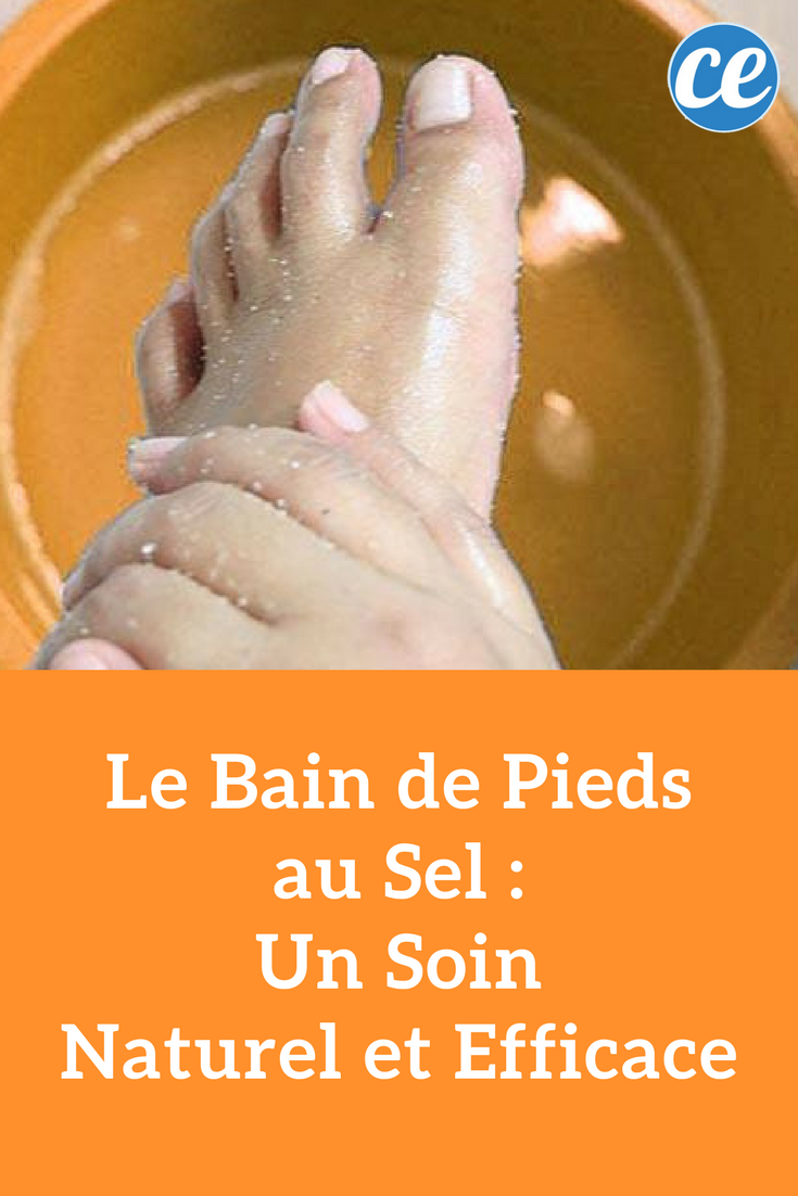 bain de pied naturel