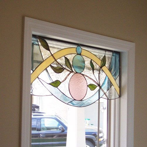 Next image stained glass floral pinterest for Stained glass kitchen windows