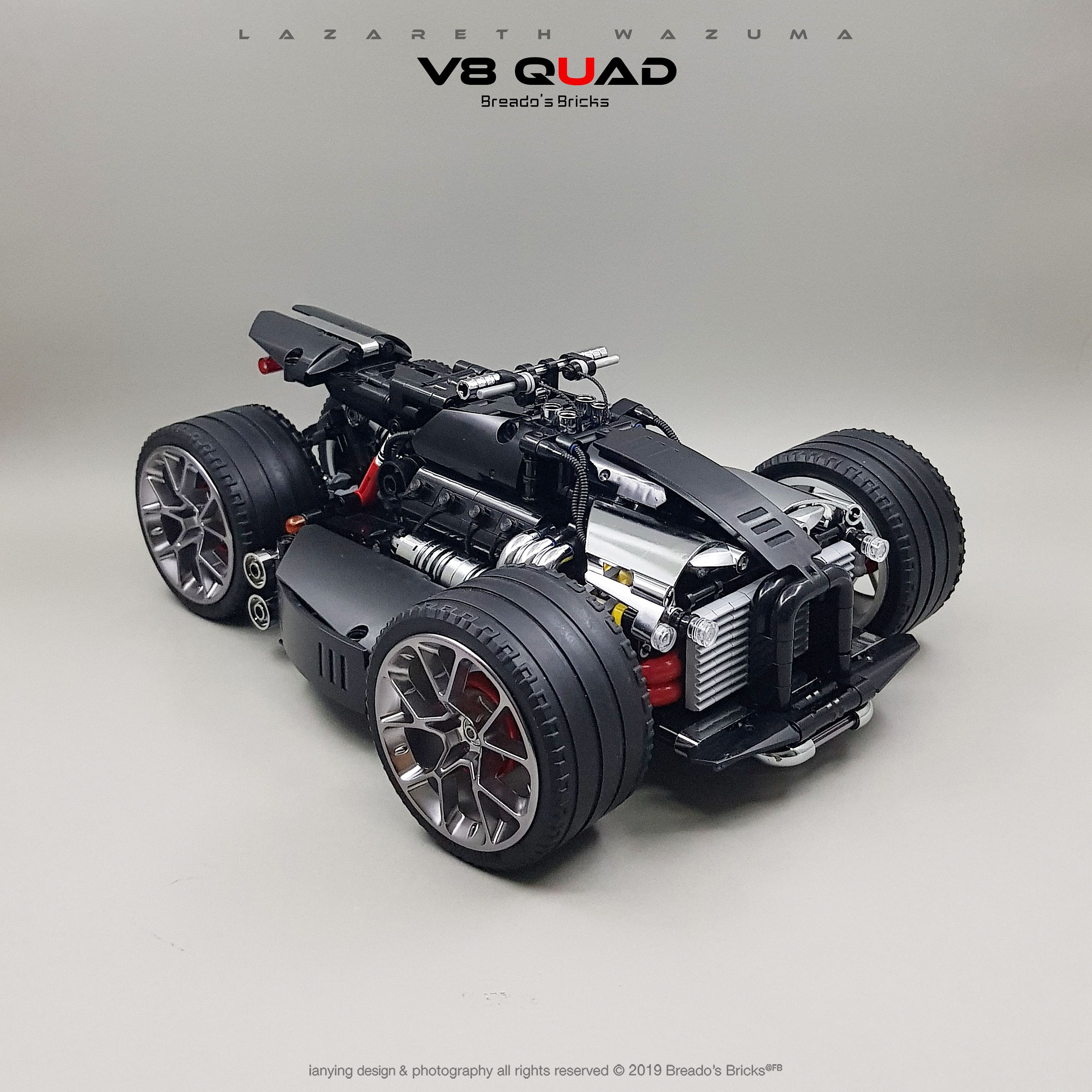 Lazareth Wazuma V8f Quad13 Lego Technic Transportation Design Lego