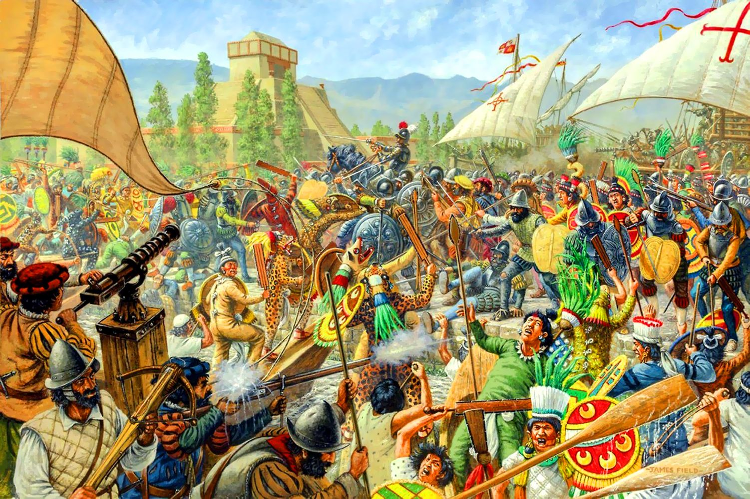 impact spanish conquest aztecs Spanish conquest there were many 1521, the aztec empire was ruined and spanish rule soon spread throughout the newly gained land the spanish introduced horses.