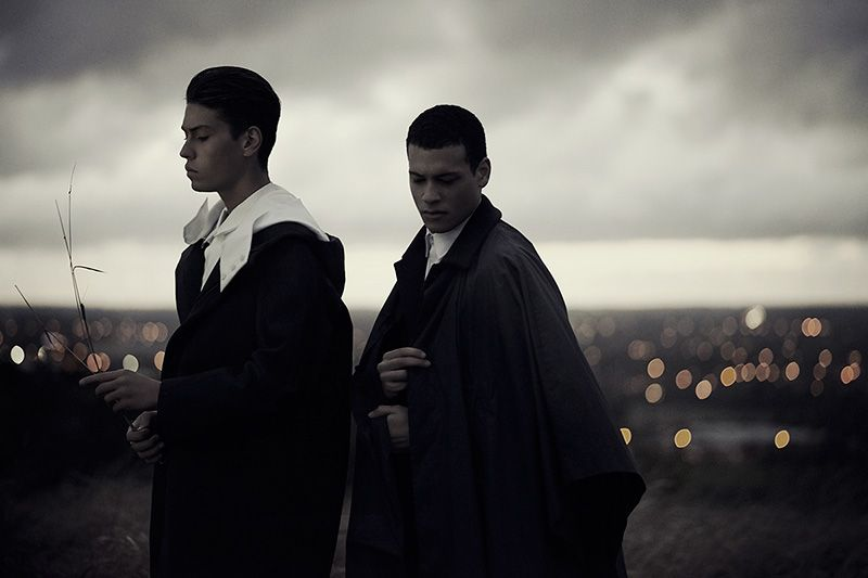 Dark + Stormy - Brieuc and David Valensi at AMCK, photographed by Russell Higton and styled by Rhona Ezuma