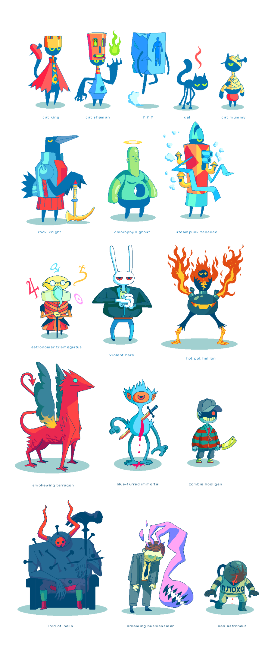 Love these characters by Joe Sparrow.