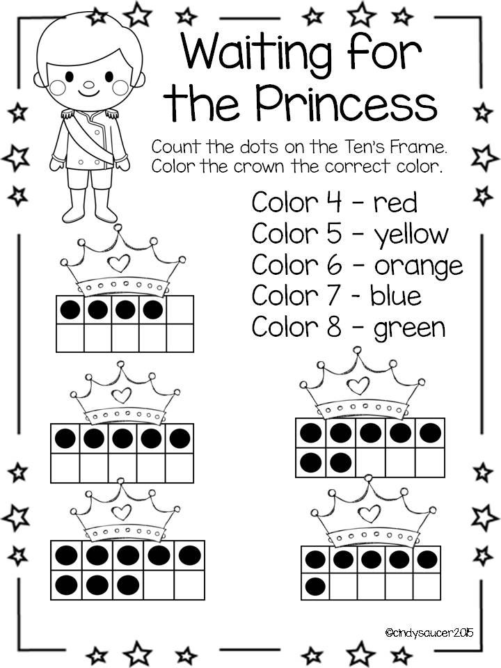 Cinderella Unit for Kindergarten, Math, Literacy, Writing