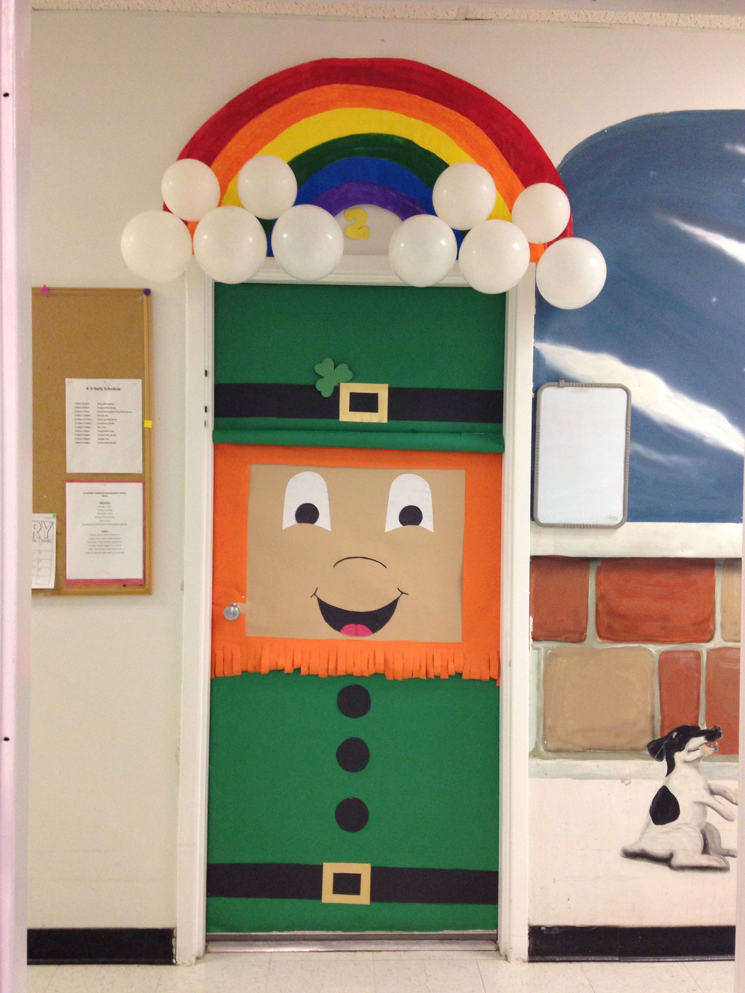 St Patricks Day Class Door School Door Decorations Door