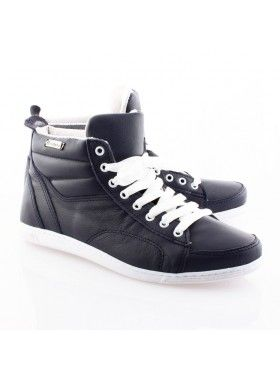 fa4a13c0f8c Zapatillas botita de cuero fáciles de combinar :-) | Zapatillas ...