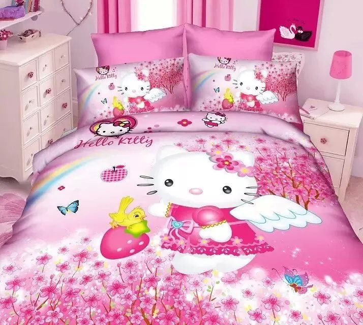 Hello Kitty Bed By Tristy Nazario On Hello Kitty In 2020 Bedding