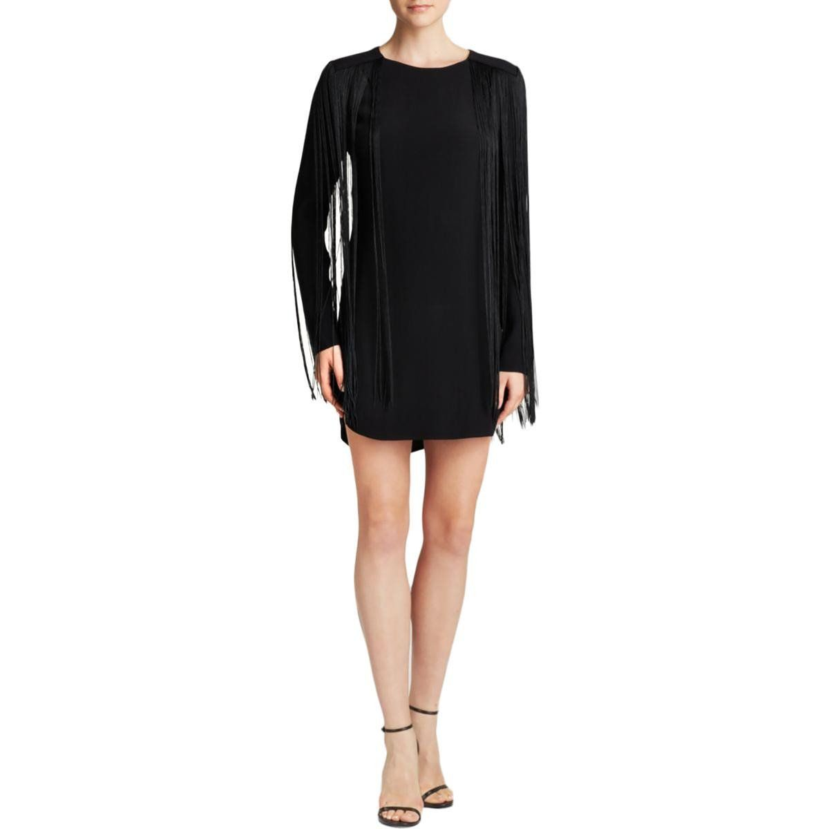 Womens fringe long sleeves cocktail dress products