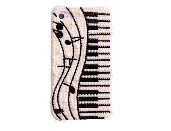 Note and Piano DIY Phone Case Deco Den Kit & Free Phone by chen370, $7.39