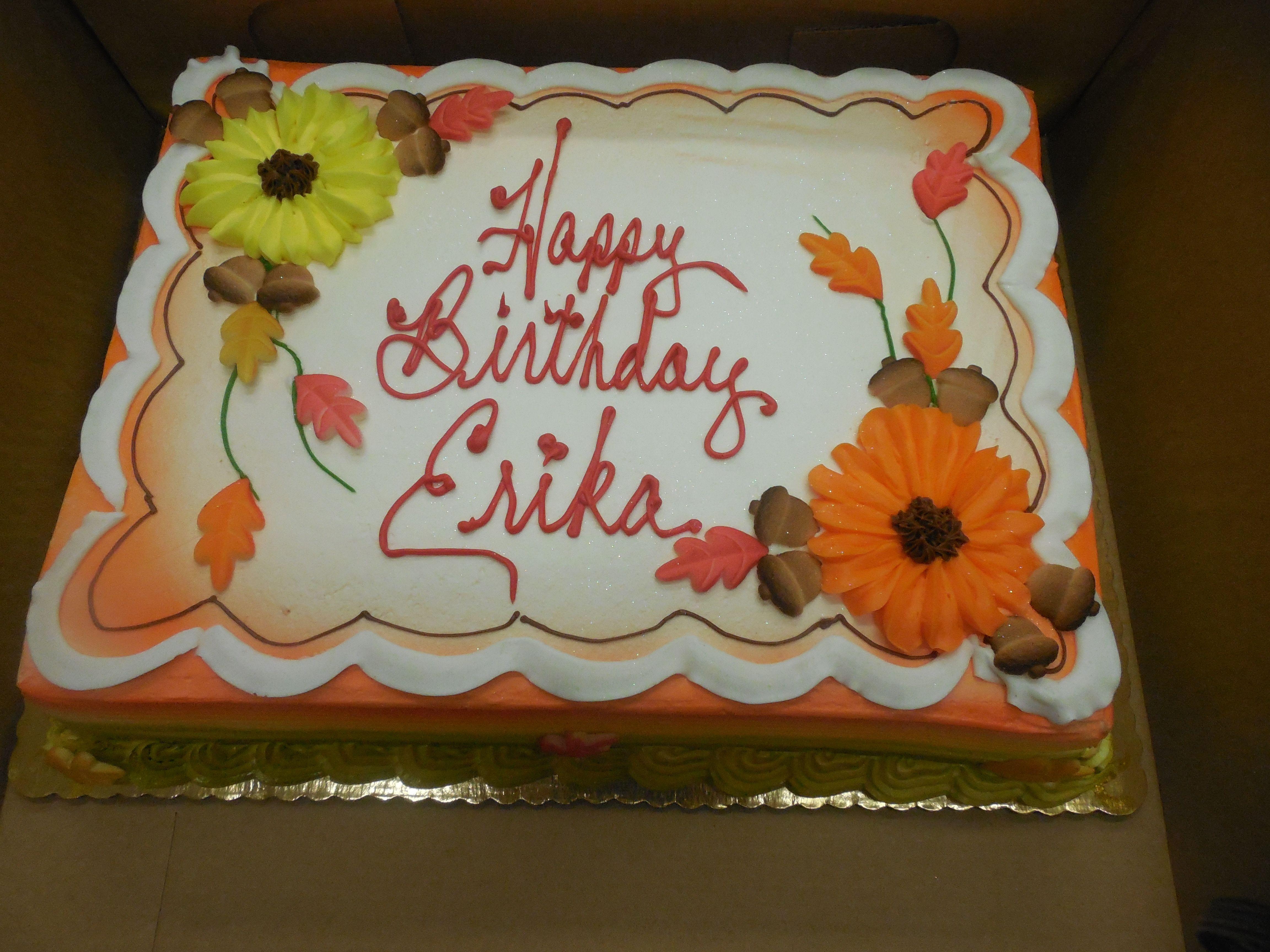 Calumet Bakery Fall Decorated Birthday Cake