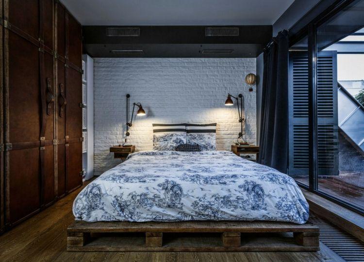 Klinker als Akzentwand im Schlafzimmer | Interieur & Deco | Pinterest