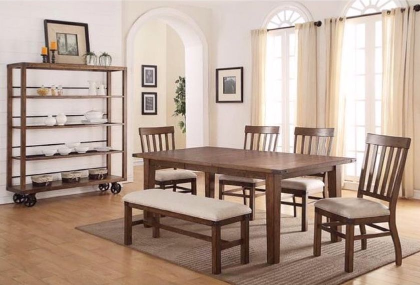 Some Dining Room Inspiration For You 6 Piece Table With Bench At