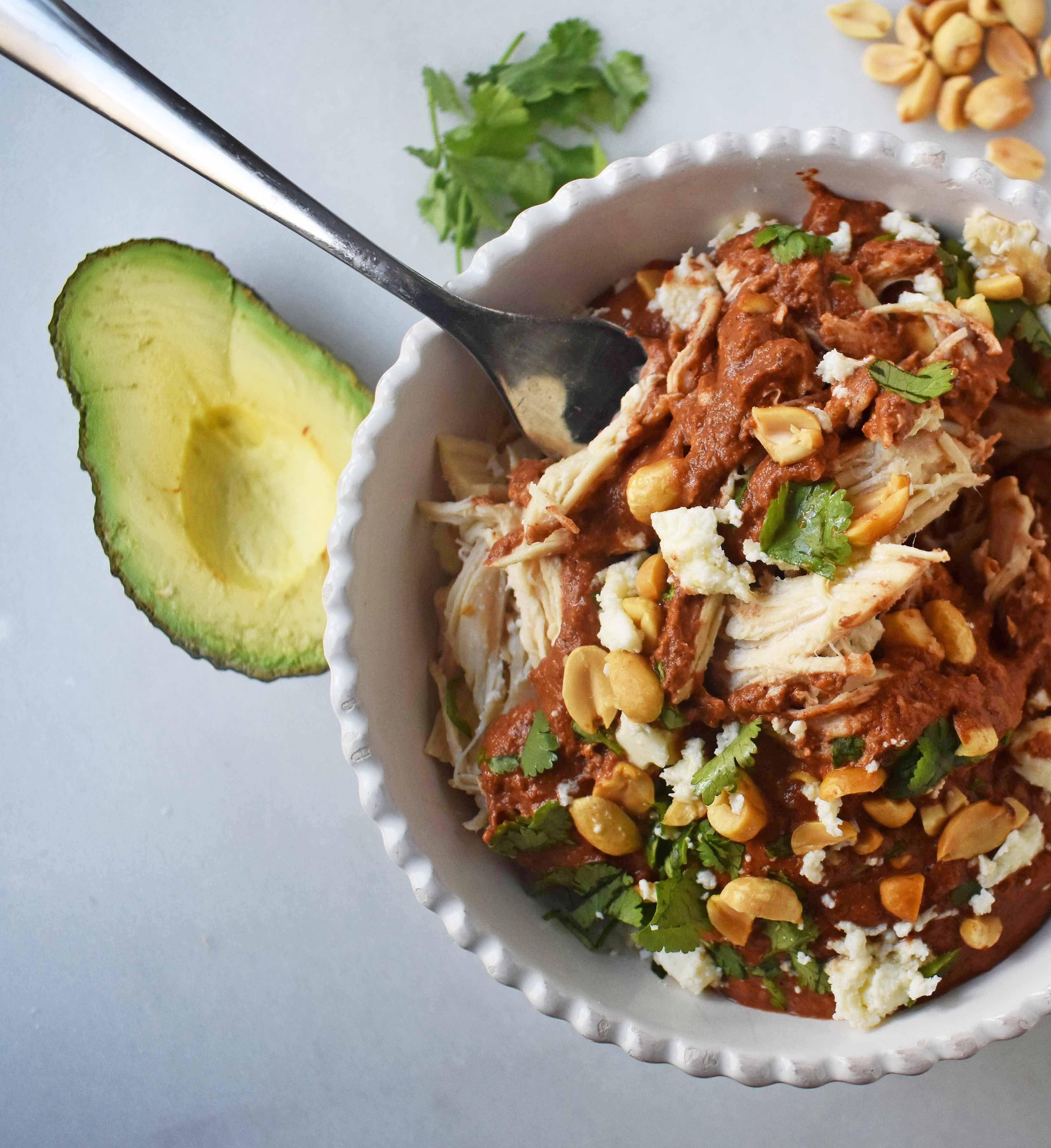 Best Chicken Mole Recipes: Crockpot Mexican Chicken Mole. Rich Mole Made Easy In A