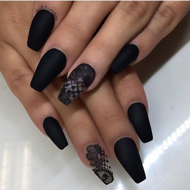 That black matte lace nail 👏🏻 - Makeup, Style & Beauty : Photo I Love Nail Designs
