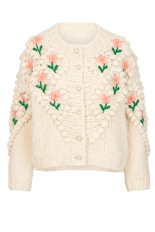 Pre Order Lily and Bean Chunky Cardigan Flowers and Pearls