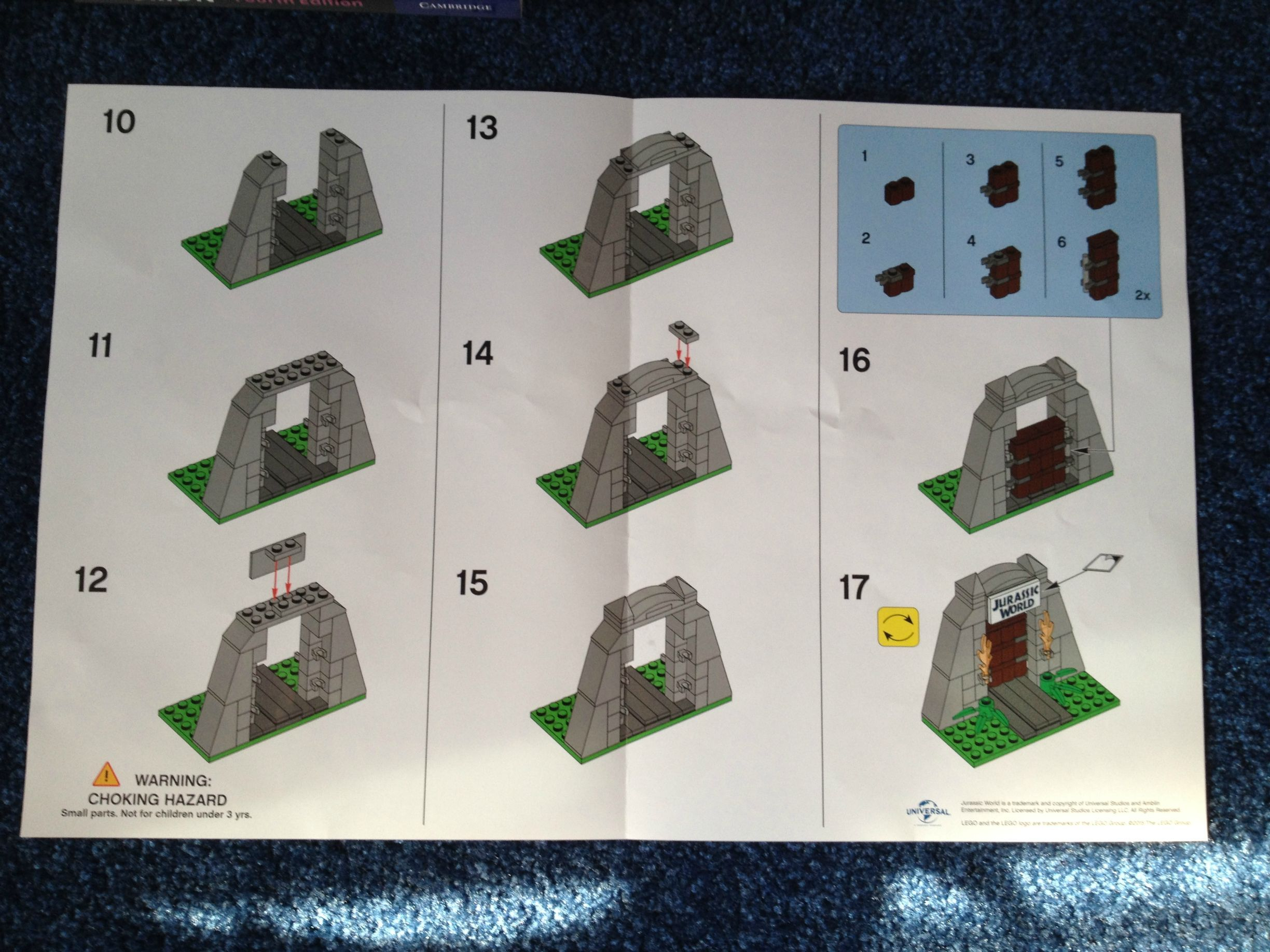 Lego Jurassic World Gate Toys R Us Building Instructions The Brick Fan Lego Pinterest
