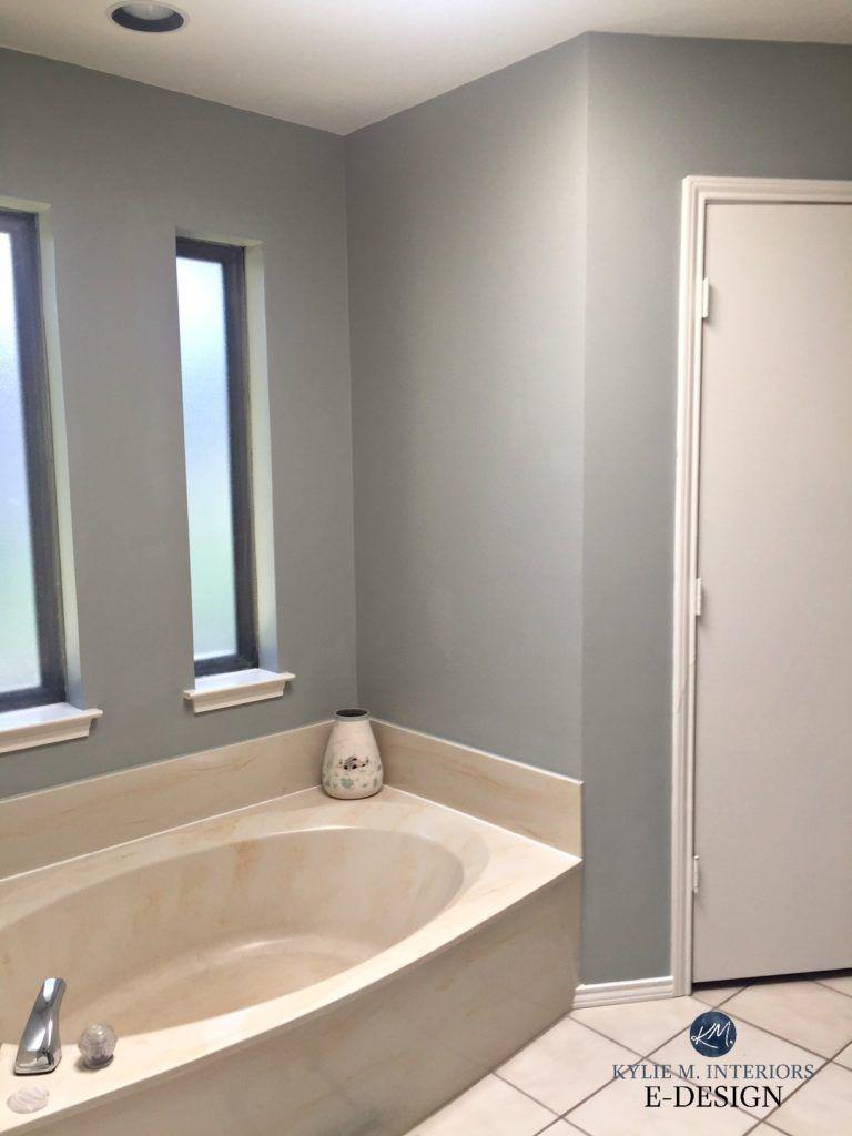 E-Design: An Almond Bathroom Gets a Fresh Paint Colour ...