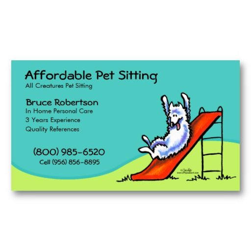 Pet Sitter Dog Day Care Business Business Card Pet Sitting