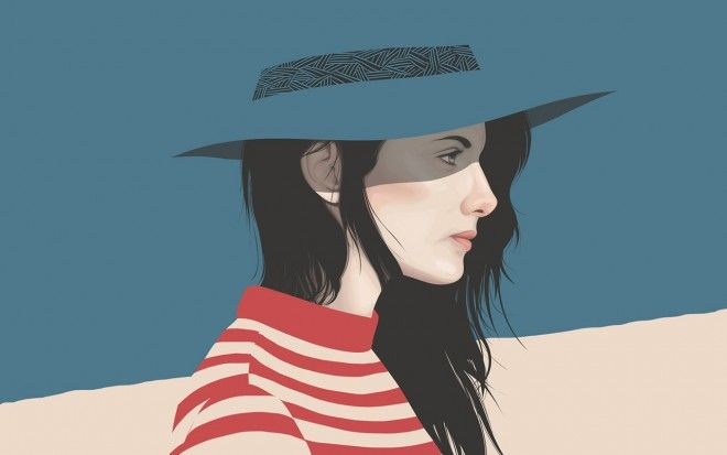 20 Beautiful Vexel Art Portraits - Vector Portrait illustrations