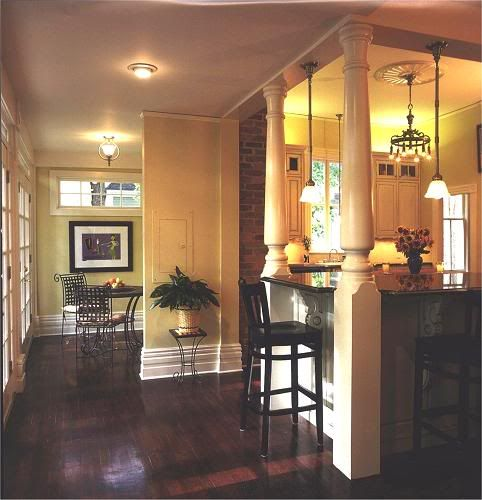 Kitchen Island Ideas With Support Posts kitchen island with support pillars | re: pictures of islands with