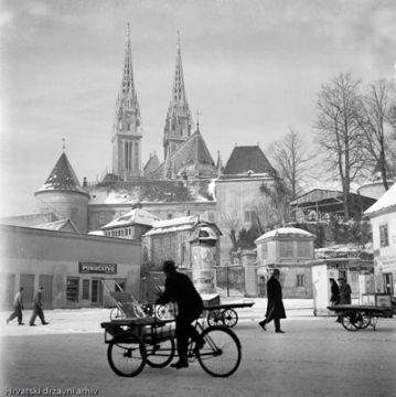 Hrvatski Drzavni Arhiv Croatian Archive Old Photos Part Of Old Zagreb In Winter Zagreb Croatia Zagreb Croatia