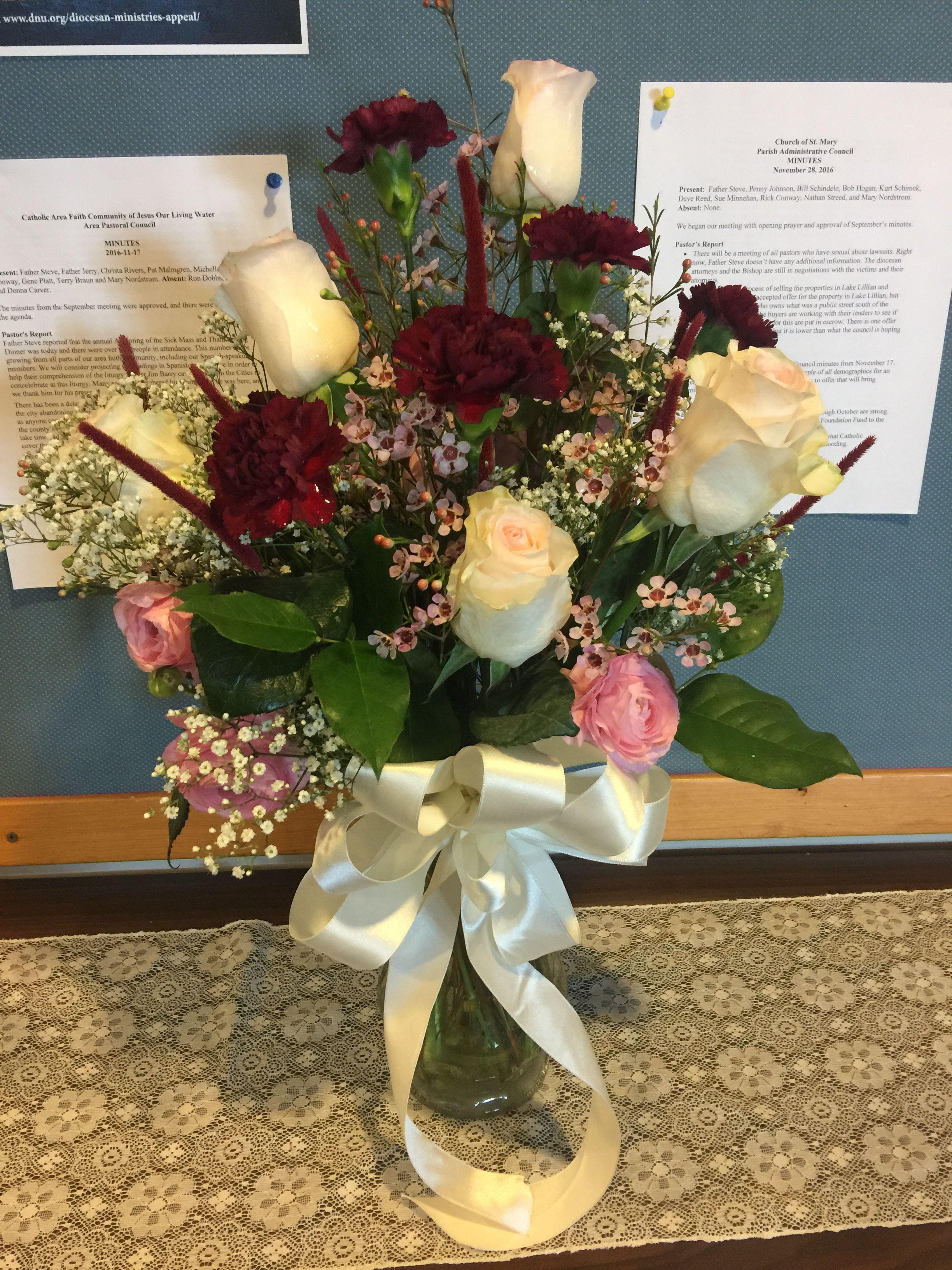 Remembrance bouquet Wedding flowers, Table decorations