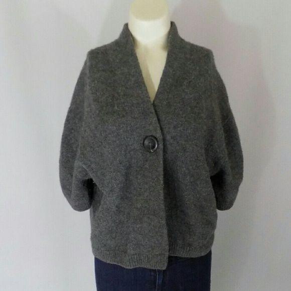 Vince Gray Cashmere Alpaca Shrug Sweater | Grey shrug, Shrug ...
