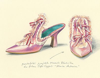 manolo blahnik_sketch for marie-antoinette film