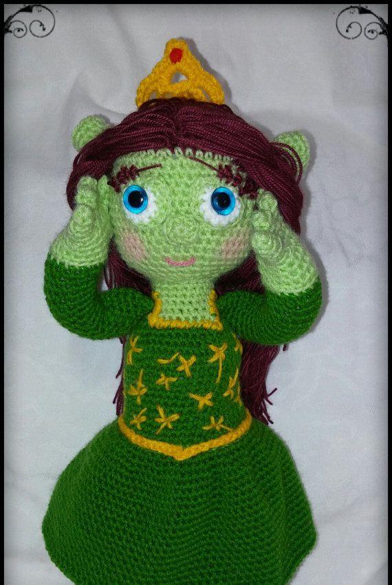 amigurumi pattern of Princess Fiona (shrek) | PDF patron Princesa ...