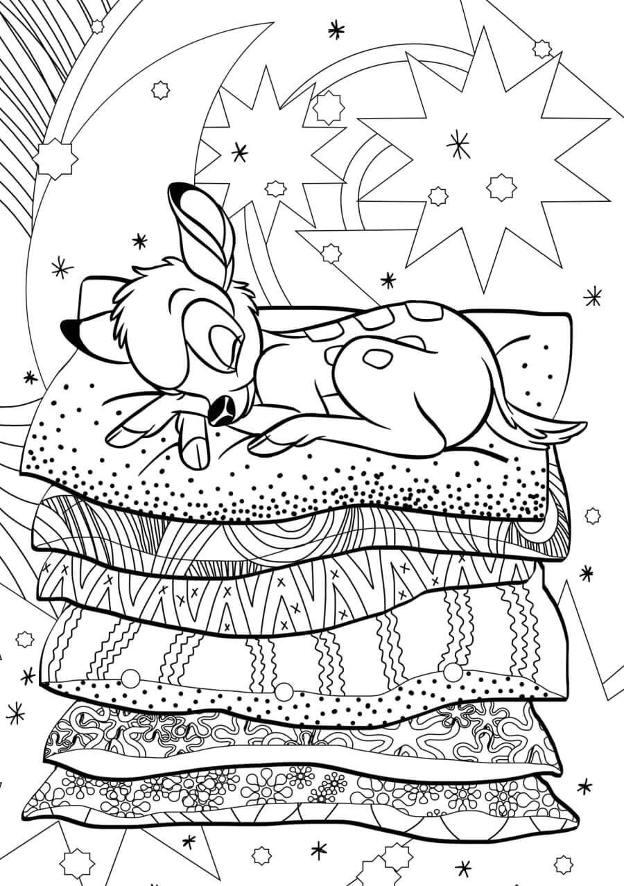bambi coloring page for adults  disney farben disney