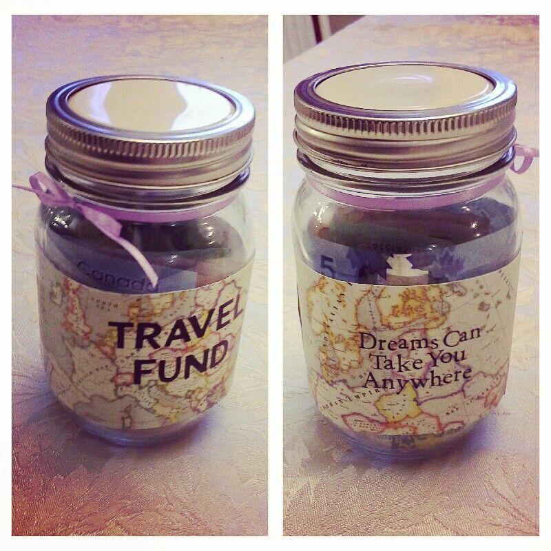 Diy Travel Fund Jar For Europe Vacation Fund Jar Money Jars Savings Jar
